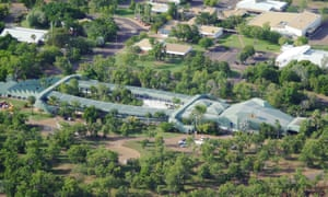 The Crocodile Hotel from the air