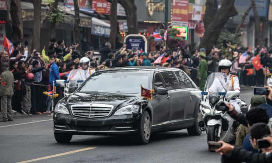 Kim Jong-un's limousine in Hanoi, Vietnam, where he met Donald Trump.
