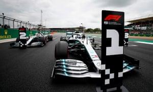 Valtteri Bottas is on pole, ahead of teammate Lewis Hamilton.