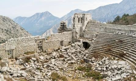 the amphitheatre at termessos turkey