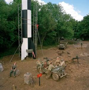 V2 rocket captured by Living Historians. Paddock Wood, Kent.