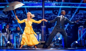 Ore Oduba and Joanne Clifton in the Strictly Come Dancing final.