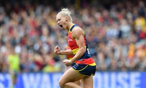 Erin Phillips starred for Adelaide before she left the field with a serious looking knee injury in the AFLW grand final.