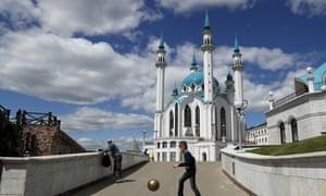 'Absolutely stunning architecture, Jon': Kazan's Qolsharif Mosque.