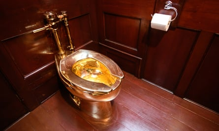 A solid gold toilet stolen from Blenheim Palace
