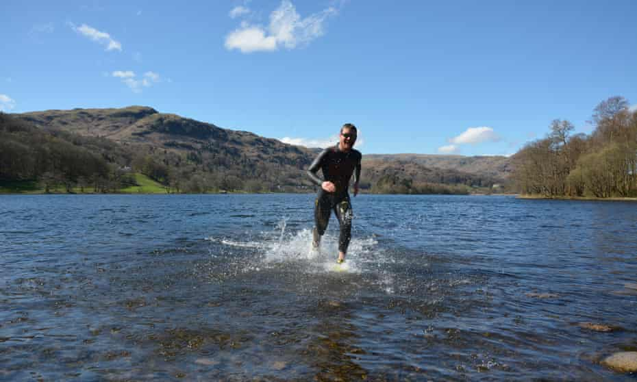Running the Loughrigg Fell route in Great Langdale.