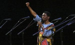 Joseph Shabalala performing in 2008.