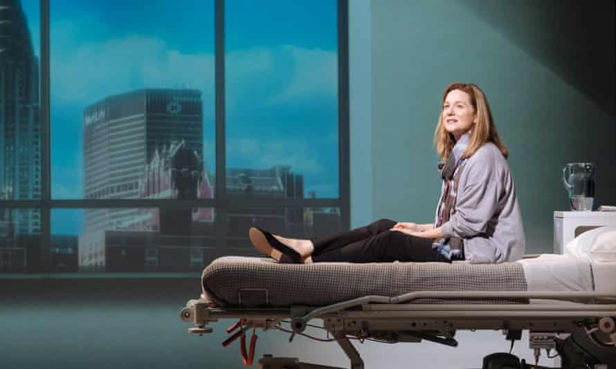 Hardship and rage … Laura Linney on stage as Lucy Barton.