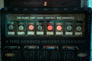 Packs of joints are available from a vending machine