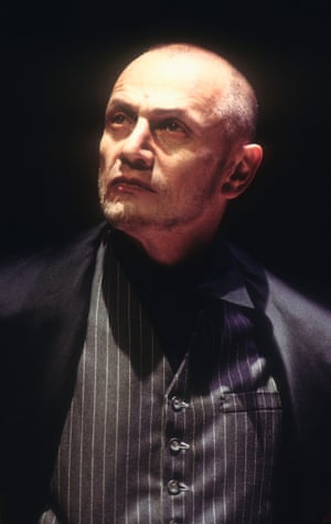Steven Berkoff in his own production at the West Yorkshire Playhouse in 1995.