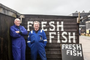 Fishermen Paul Joy and Mark Ball photographed at Hastings harbour for a feature on the future of the fishing industy.
