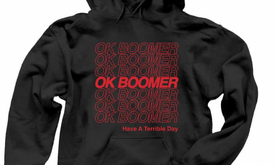 The small print on this OK Boomer hoodie reads: 'Have a terrible day.'