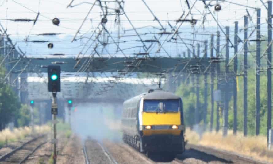 a train in the heat
