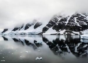 Antartic Reflections, The Gerlache Strait, Antarctica, by Ingrid Demaerschalk