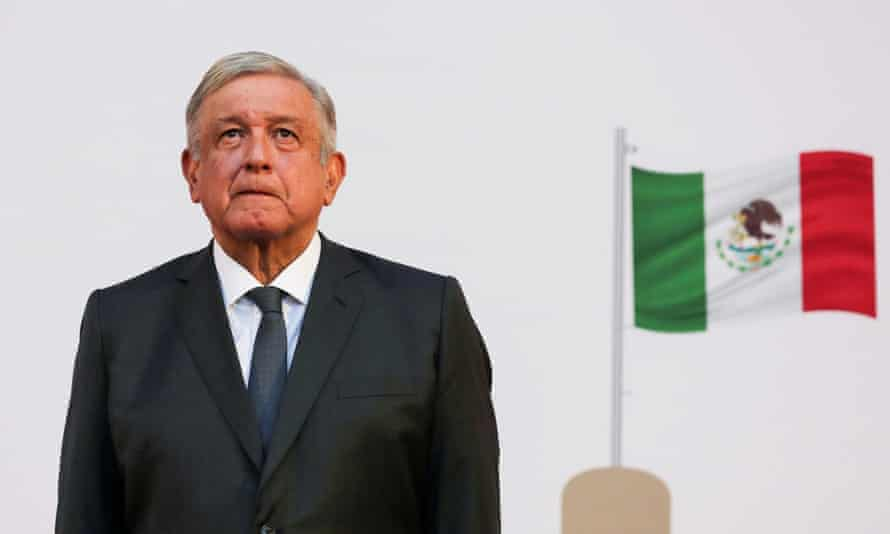 Amlo in Mexico City in December. The two leaders agreed to work together towards reducing 'irregular migration', the White House said.