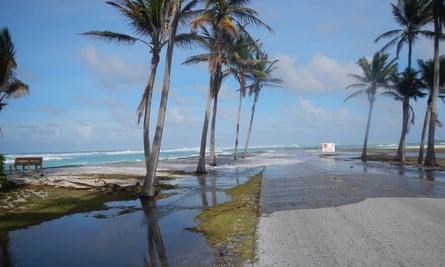 Kwajalein Atoll in Marshall Islands is under threat..