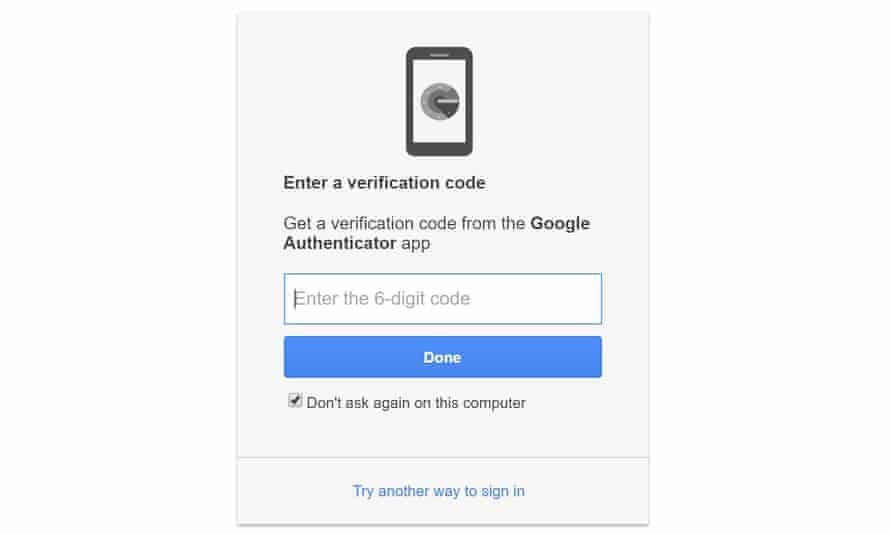 Two-step verification can help keep your account safe