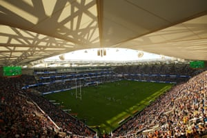 Parramatta Eels and Wests Tigers meet at the Bankwest Stadium in Sydney.