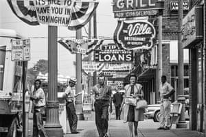 Street scene in Birmingham, Alabama