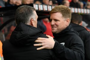The managers greet.