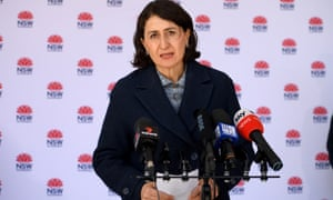 NSW premier Gladys Berejiklian addresses media during a Covid update in Sydney