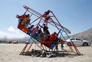 Children enjoy the holiday in Kabul, Afghanistan