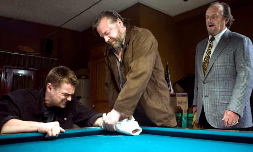 Leo, Ray Winstone and Jack Nicholson in The Departed (2006).