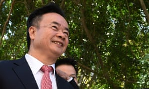 Dr Chau Chak Wing at the opening of the Chau Chak Wing building at the University of Technology, Sydney. He donated $20m to the project along with $5m for Australia-China scholarships.