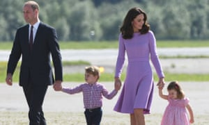 The Duke and of Duchess of Cambridge with their children Prince George and Princess Charlotte, September 2017