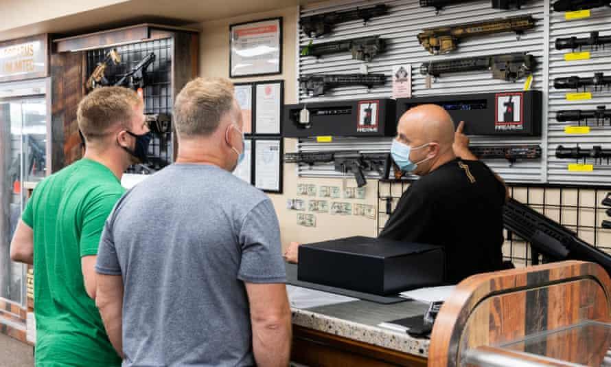 Gun sales have surged this year during the coronavirus pandemic.