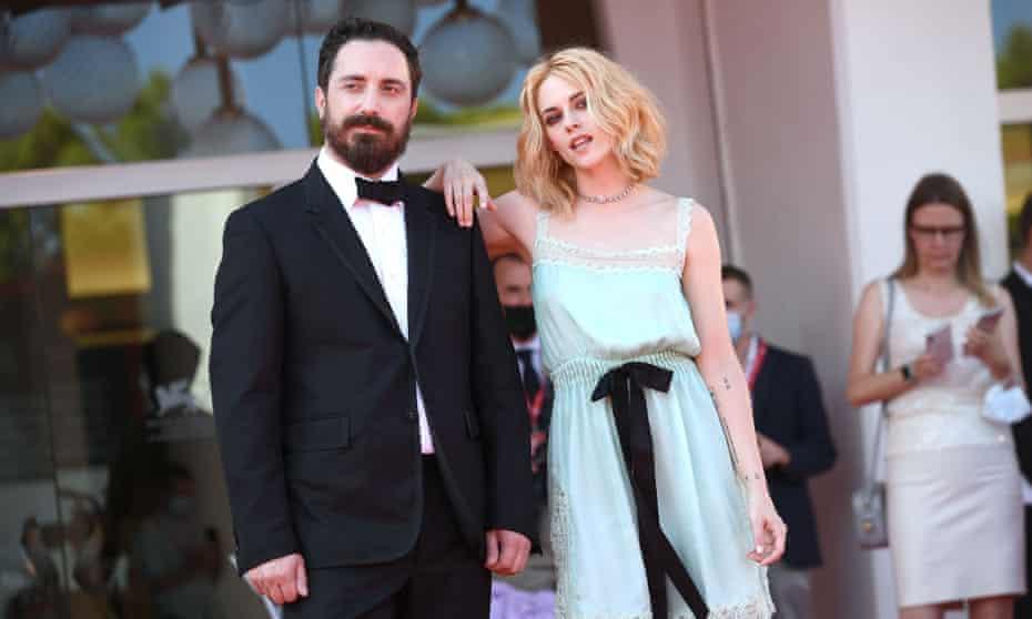 Pablo Larraín and Kristen Stewart at the Spencer premiere at Venice film festival.