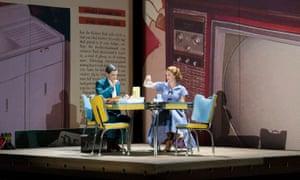 Quirijn de Lang as Sam and Wallis Giunta as Dinah in Opera North's 2017 production.
