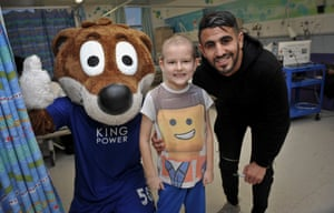 Riyad Mahrez visits the Leicester Royal Infirmary to deliver presents before Christmas