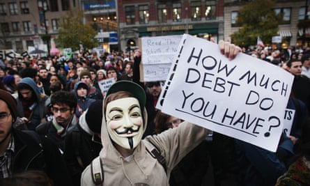 Agents for change … Occupy Wall Street protesters in New York, 2011.
