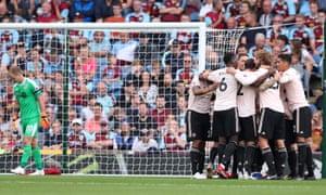 ece1c21b8 Romelu Lukaku of Manchester United celebrates after scoring his second.