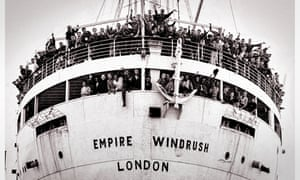 The Empire Windrush arriving in the UK in 1948