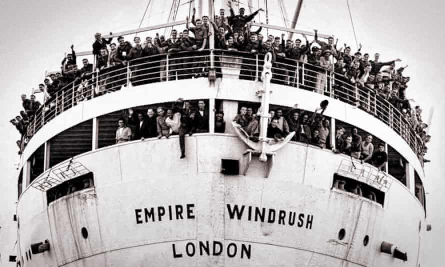 The Empire Windrush arriving at the Port of Tilbury in 1948.