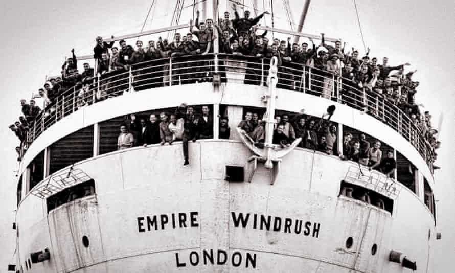 The Empire Windrush arriving at Tilbury, 22 June 1948.