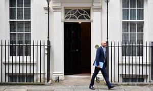 Sajid Javid leaves No 11 Downing Street.