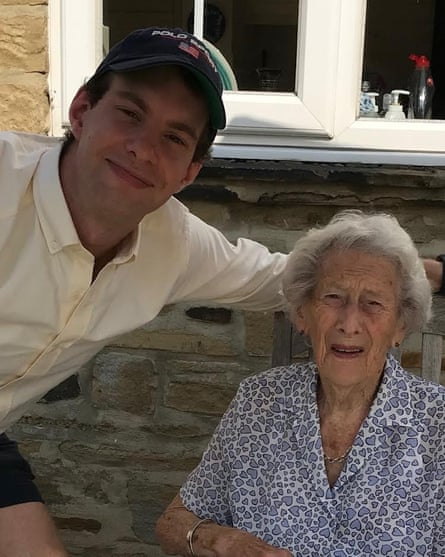 Alex with his grandmother.