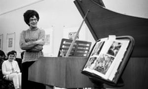 Zuzana Růžičková in 1969. She was the first performer to record Bach's entire output for the harpsichord.