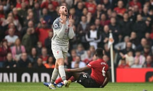 Frustration for Jordan Henderson and Liverpool in their draw at Manchester United.