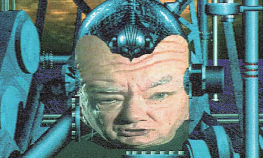 Irreverent humour … TV astronomer Patrick Moore as the GamesMaster in 1992.