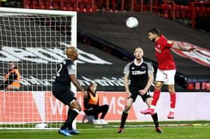 Nahki Wells of Bristol City scores the opening goal.