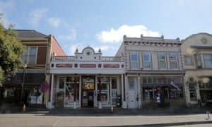 Book and antique shops in Eureka, northern California.