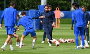 Frank Lampard takes an active role in Chelsea training on Monday as they look to return to winning ways against Norwich on Tuesday.