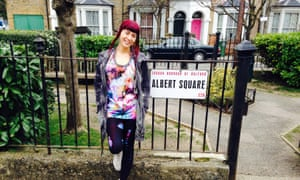 Paris Lees on the set of EastEnders. 'Five years ago trans people didn't create media on any level. Now we are making television and starring in it.'