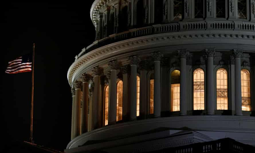 The U.S. Capitol Rotunda is seen following the U.S. House of Representatives' vote on two articles of impeachment against U.S. President Donald Trump in Washington, U.S., December 18, 2019. REUTERS/Tom Brenner TPX IMAGES OF THE DAY