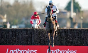 Nube Negra beat favourite Altior into second in the Desert Orchid Chase at Kempton.