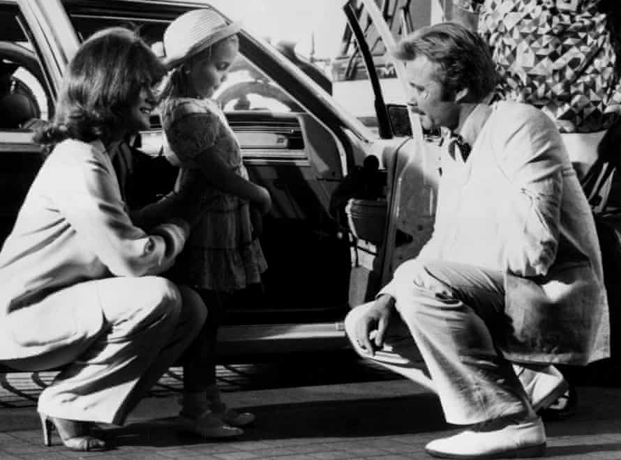 Angelina Jolie making her film debut, with her father, Jon Voight, and Ann-Margret, in Lookin' To Get Out, 1982.